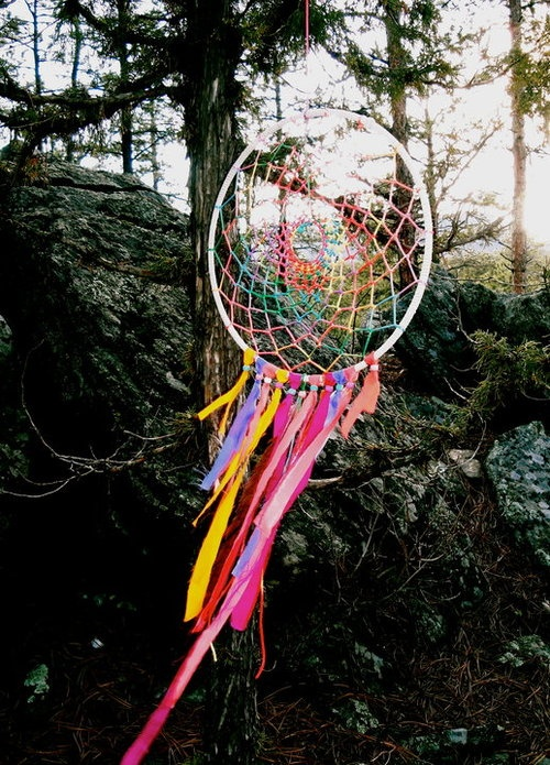 1000 images about dream catchers on pinterest macrame for How to make a double ring dreamcatcher