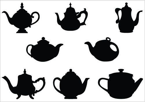 teapot silhouette vector silhouette clip art pinterest