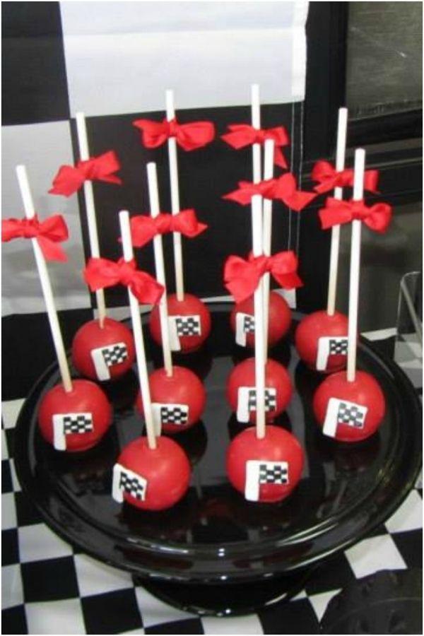 Race Car Cake Pops