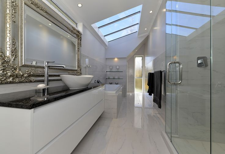 Bathroom with a view - upwards