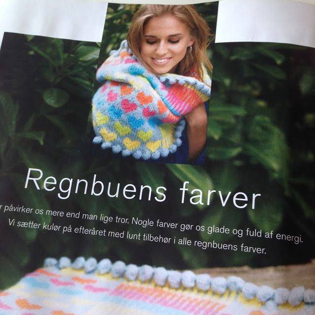 Halsrør i regnbuefarver, Charlotte Kaae for Kreativ strik nr 4, 2016…