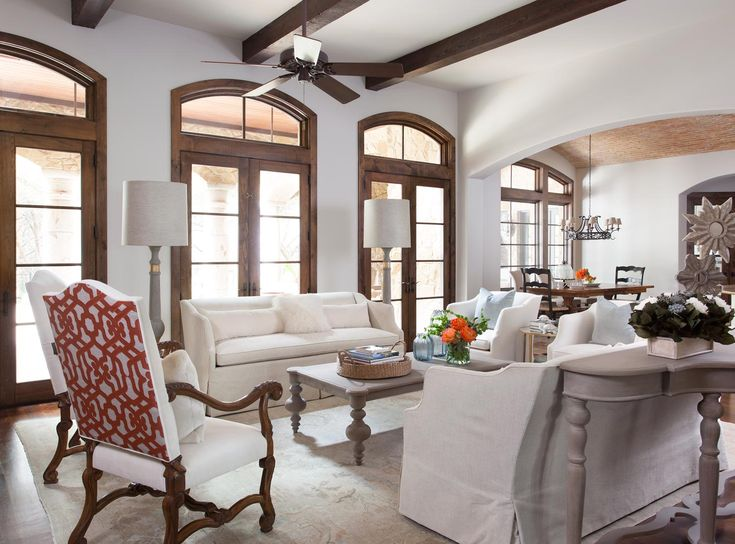 How To Decorate A Living Room With White Slipcovered Furniture Heather Scott Home Design