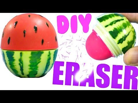 DIY Push Pop School Supplies - Eraser, Pencil Sharpener, & Glue Stick How To for Back-To-School - YouTube