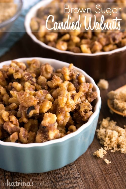 Brown Sugar Candied Walnuts will be your go-to topping for sweets and salads. But watch out or you'll find yourself eating the whole batch by the handful!