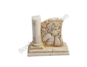 Bellissimo articolo per comunione con il soggetto dell'angelo di Raffaello in polvere di marmo di resina ricomposto a rilievo...