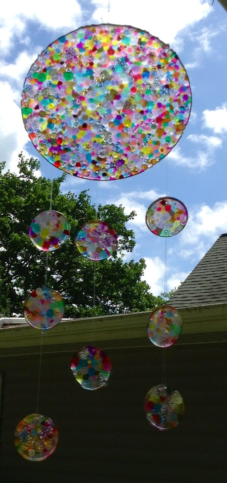 Sun Catcher made by melting plastic beads