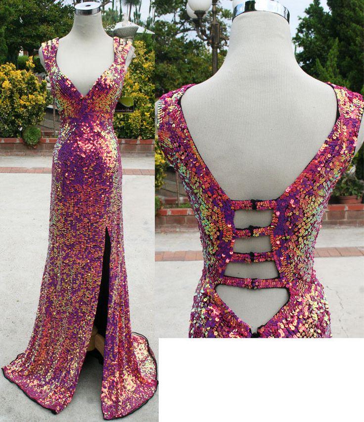 Cassandra Stone by MacDuggal Raspberry $458 Prom Gown 0