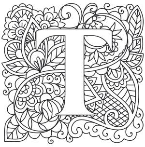 Craft Delicate Charm With This Mehndi Style Letter Downloads As A PDF Use Pattern Coloring LettersAlphabet