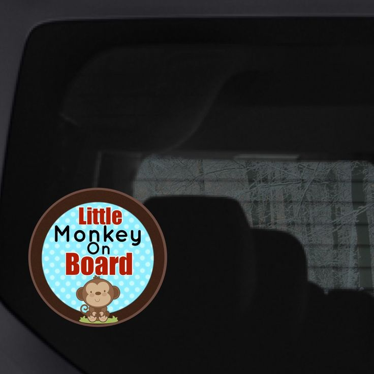 Your little monkey may sometimes drive you bananas but so do tailgaters, baby on board
