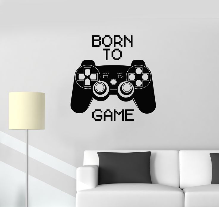 (*** http://BubbleCraze.org - If Tetris and Bubble Shooter had a kid, this would be it! ***) Vinyl Decal Quote Video Game Computer Joystick Gaming Teen Boys Room Wall Stickers (ig2752)