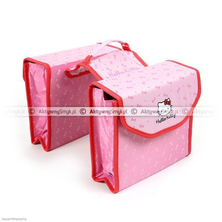 Różowe sakwy rowerowe z Hello Kitty