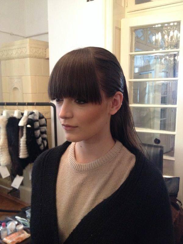 Un super breton la prezentarea brandului de blanuri, Paisi! Coafura: Marius / Make-up: Irina from Beauty District. #hairstyle #haircut #bangs #beautysalon.