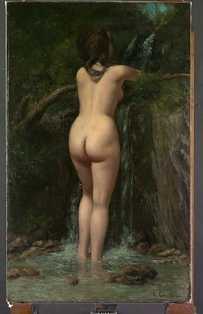 The Source, 1862 Gustave Courbet Ornans 1819–1877 La Tour-de-Peilz) Medium: Oil on canvas Dimensions: 47 1/4 x 29 1/4 in. (120 x 74.3 cm). Metropolitan Museum of ARts , New York