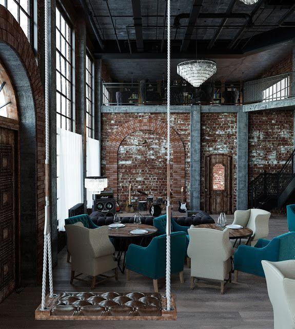 Haarchitect: Дизайн интерьера и экстерьера лофт-кафе в Мехико (Мексика) Вкусные экстерьеры, нервосберегающие интерьеры
