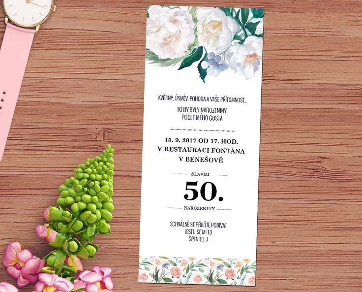 květinová pozvánka