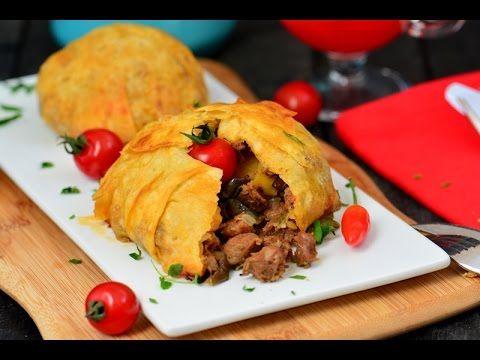 Yufkada Bohça Kebabı Tarifi ( Çok şık ve nefis bir yemek) - YouTube