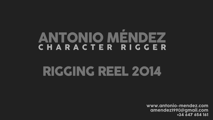 Rigging Reel 2014 on Vimeo