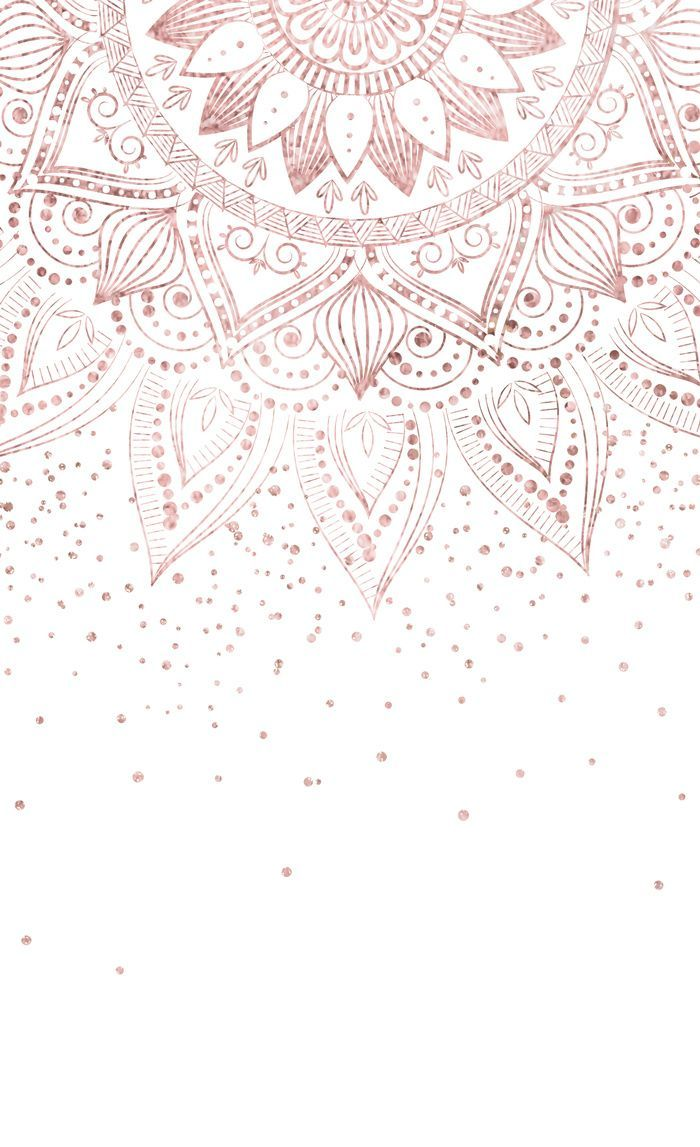 Elegant rose gold mandala confetti design Window C…
