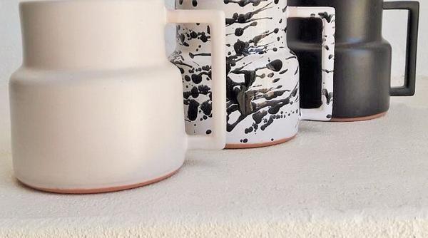 CERAMIC MUGS- MATTE.WHITE.SCRATCHED. rialheim ceramics
