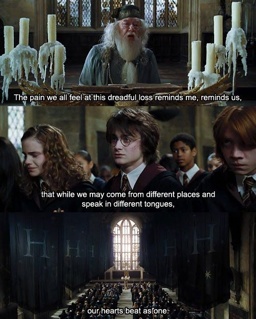 Harry Potter and the Goblet of Fire: minus the depression part of it its the olympics... :)