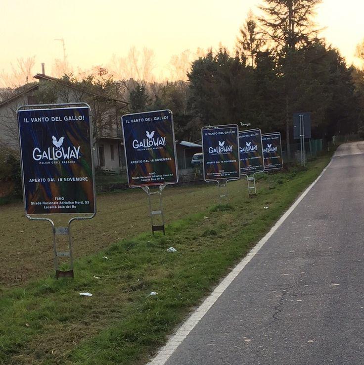 Sequenziali per la campagna del nuovo locale Galloway di Fano. #zarricomunicazione #sequenziali #manifesti #affissioni Viale Romagna nel Fano, Marche