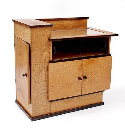 Botterweg Auctions Amsterdam > Wooden 'Haagse School' cabinet(Model no.283) with coromandel-wooden rims…