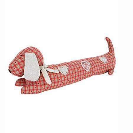 Originální polštář ve tvaru psa, kterým utěsníte škvíru třeba na okně a zabráníte nepříjemnému průvanu.