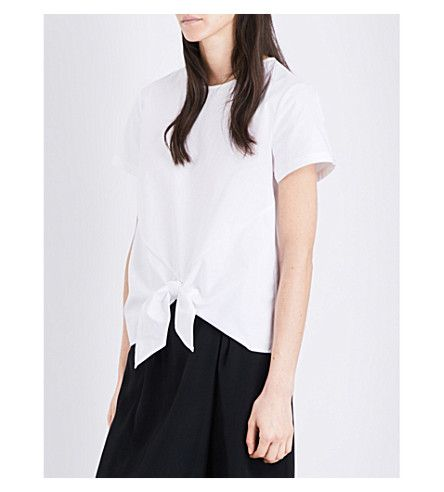 TED BAKER Colour By Numbers Cotton-Canvas Top. #tedbaker #cloth #tops