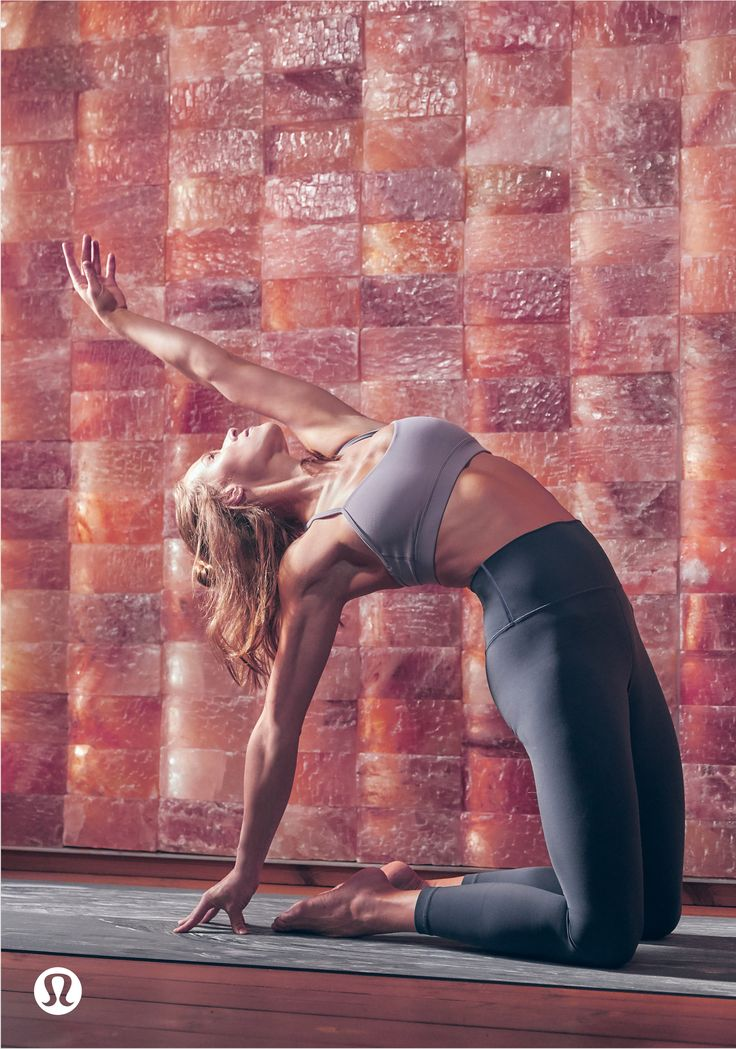 Strong meets soft. Flow through your practice in the Flow Y Bra (now in Nulu fab...