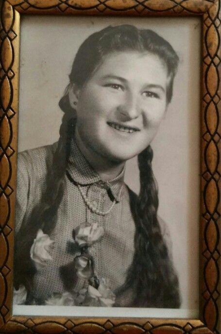 Kács/ Szabó Mária 1950. körül.
