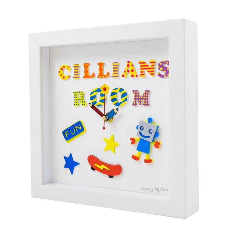 Personalised handmade children's clock