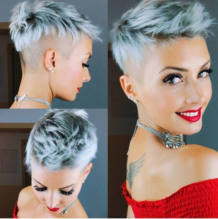 Kurzes Haar schneiden – Frisuren – #Frisuren #Ha…