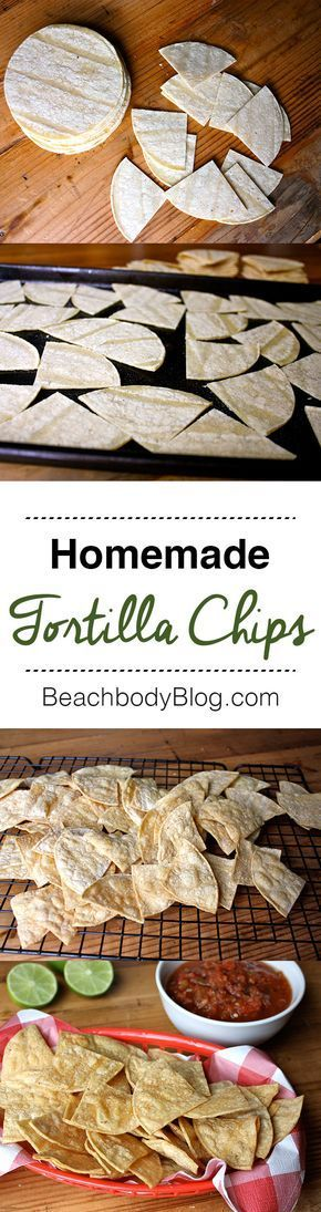 These baked corn tortilla chips taste fresh and have a satisfying crunch you'll love, without the guilt. Dress them up with a squeeze of fresh lime, serve with salsa or this seven layer dip, or make these healthy nachos