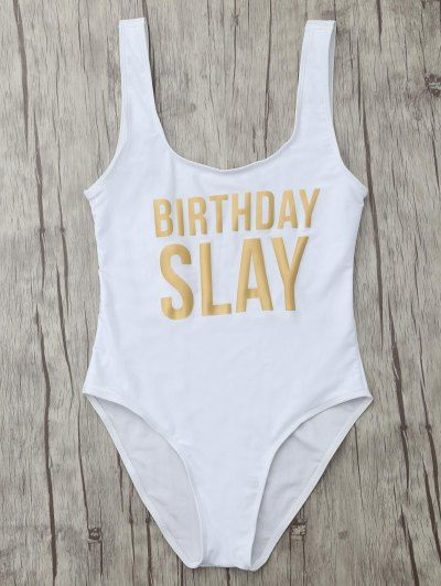 SHARE & Get it FREE | Birthday Slay Letter SwimwearFor Fashion Lovers only:80,000+ Items • New Arrivals Daily Join Zaful: Get YOUR $50 NOW!