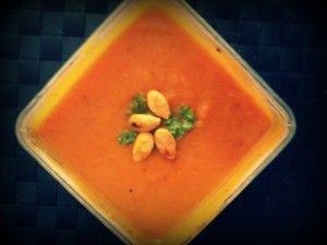 pompoen-zoete aardappel- wortel soep