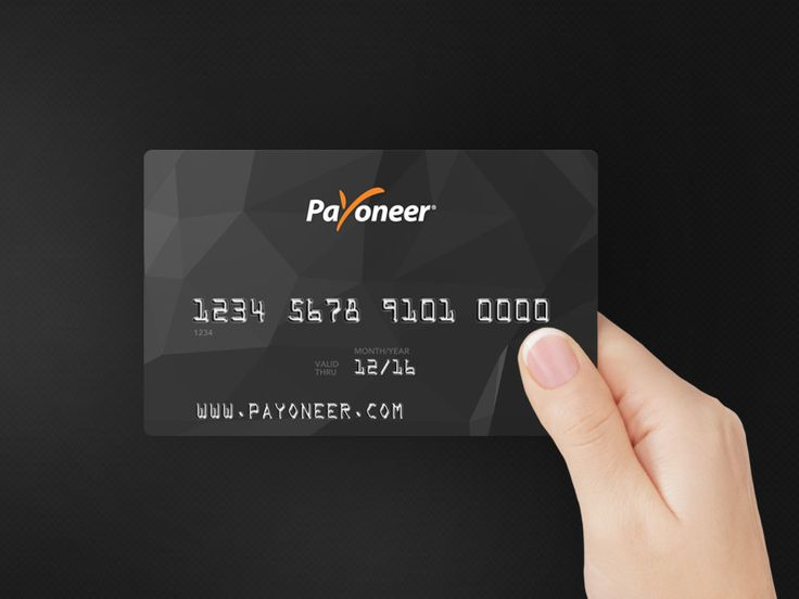 The Payoneer Card Design