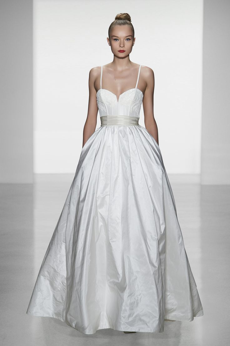 "Amsale ""Cameron""Dresses Wedding, Full Skirts, Wedding Dressses, Silk Taffeta, Bridal Collection, Bridal Gowns, Fall 2014, The Dresses, Amsale"