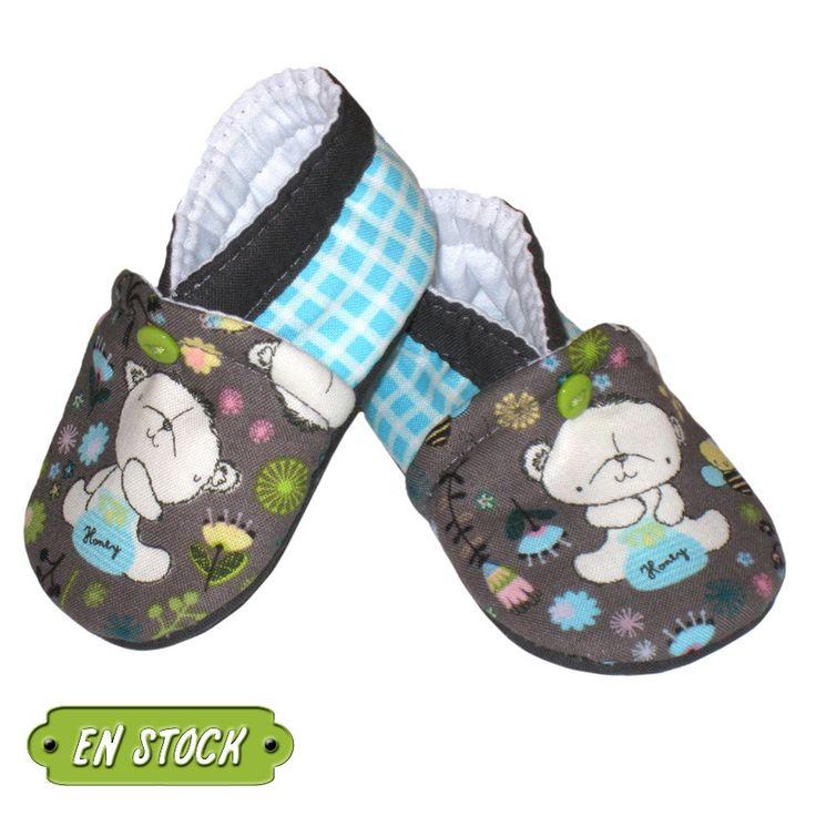 Chaussons bébé, tailles 1/3 mois, modèle Teddy en stock : Mode Bébé par dont-forget-melanie