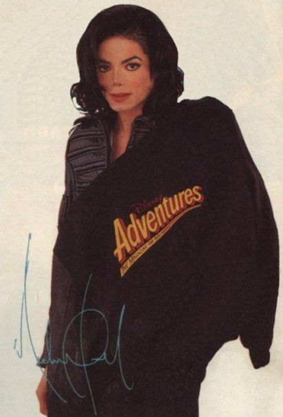 Michael Jackson - rare photo from Disney Adventures