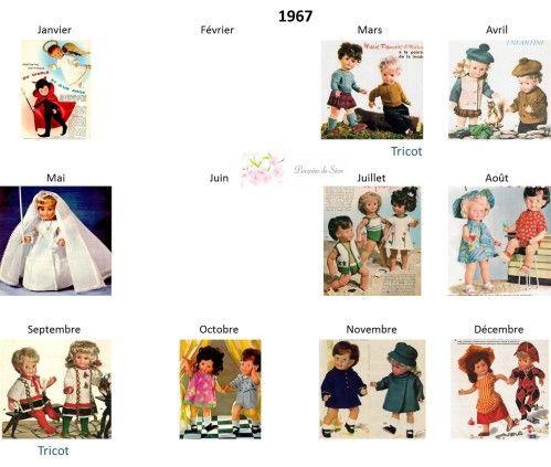 Modes et Travaux - Patrons poupée 1967