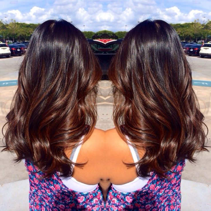 balayage black hair subtle - Google Search