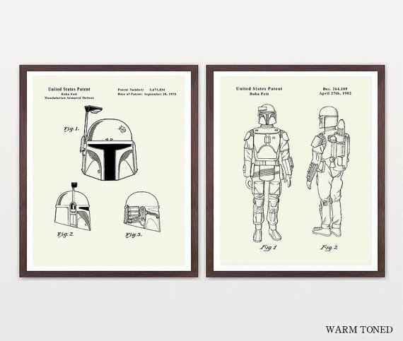 Boba Fett Poster Star Wars Art Star Wars by WunderKammerEditions