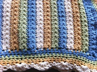 Star Stitch Baby Blanket - Crochet