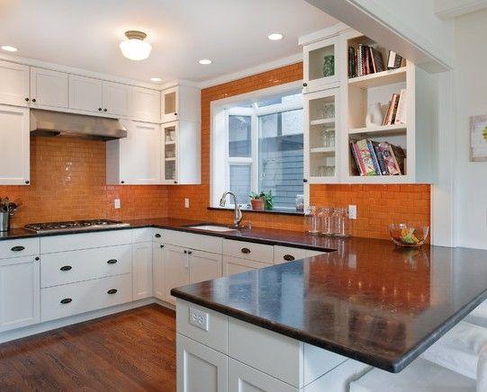 Die besten 25+ Orange küchenfliesen ideen Ideen auf Pinterest - küchenspiegel aus holz