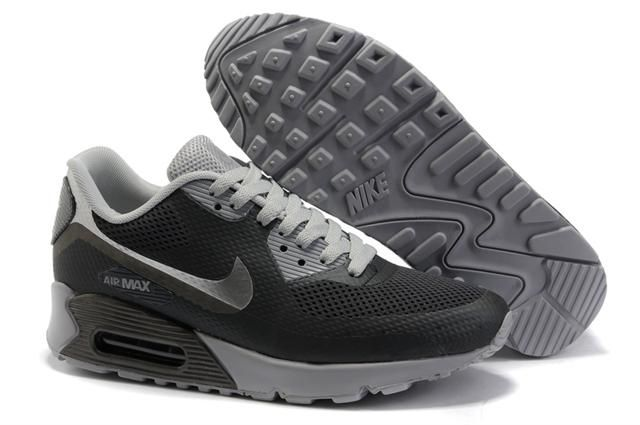 Only$72.06 NIKE AIR MAX 90 HYPERFUSE BLACK GREY Free Shipping!