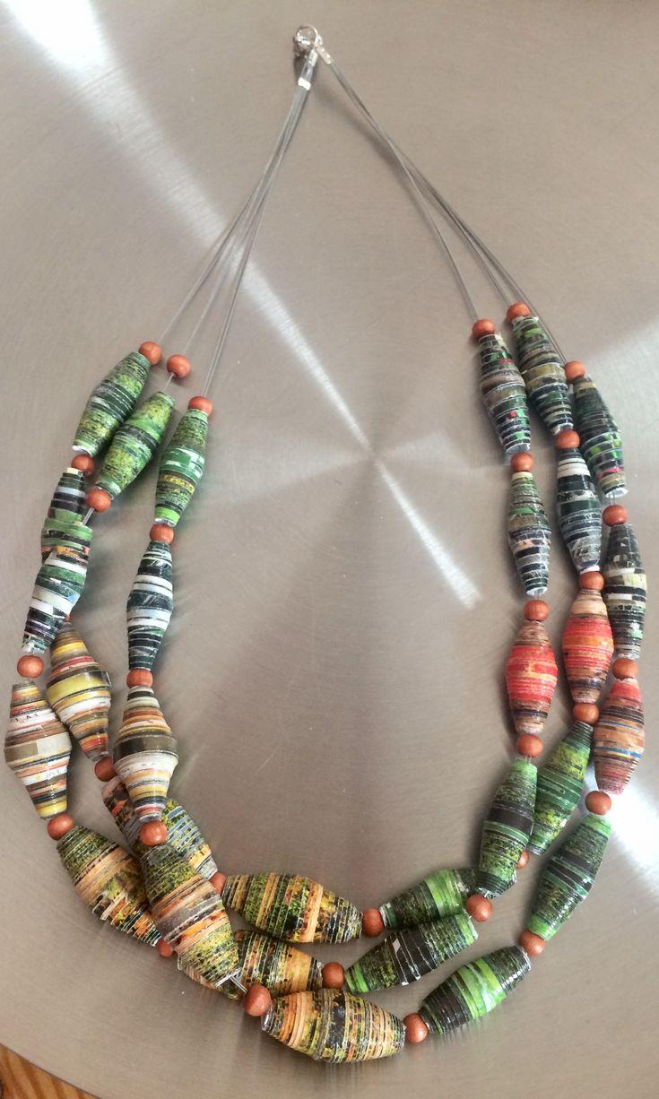 jewelry made of paper beads schmuck aus papier. Black Bedroom Furniture Sets. Home Design Ideas