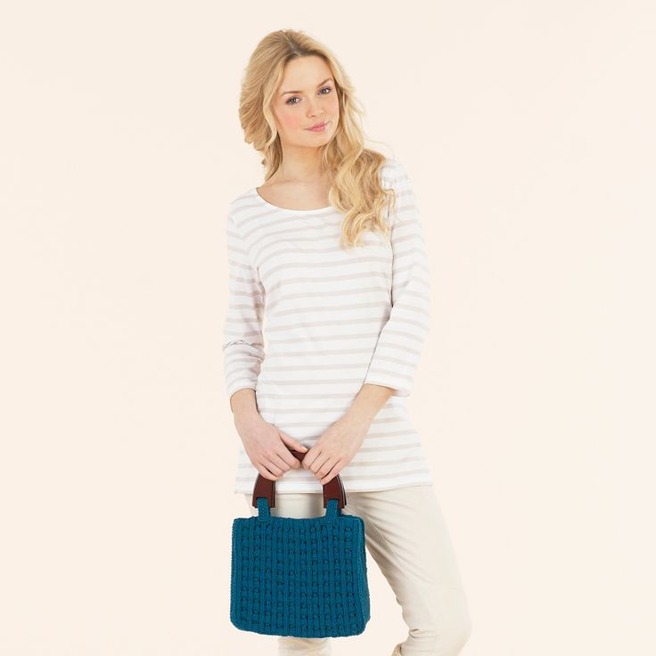 So chic bag - a hand knitted design from the seventh extra fine merino double knitting book
