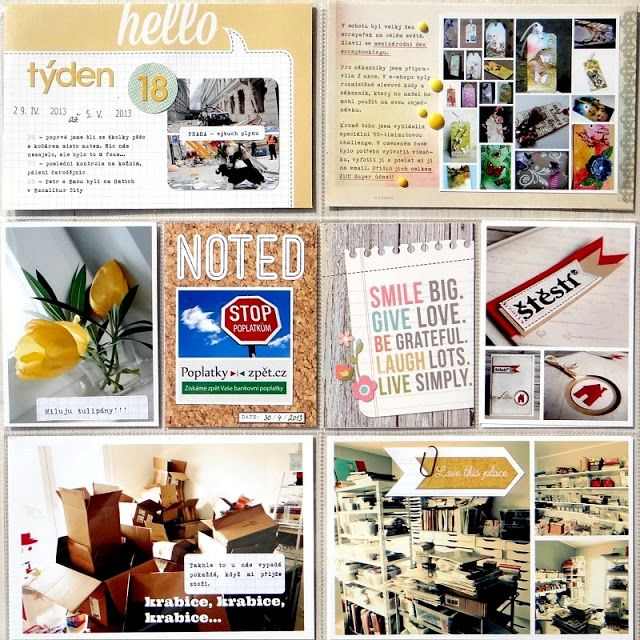 Project Life - Week 18 (left page)