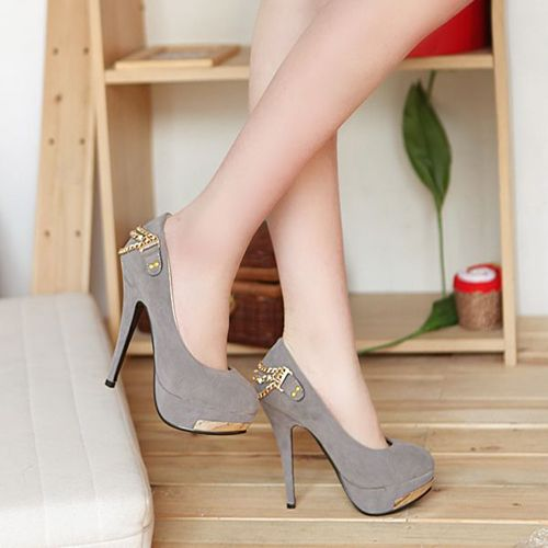 New Women's sexy Elegant Vogue Faux Suede High Heels Pumps shoes http://zzkko.com/n284172 $59.40 BRL