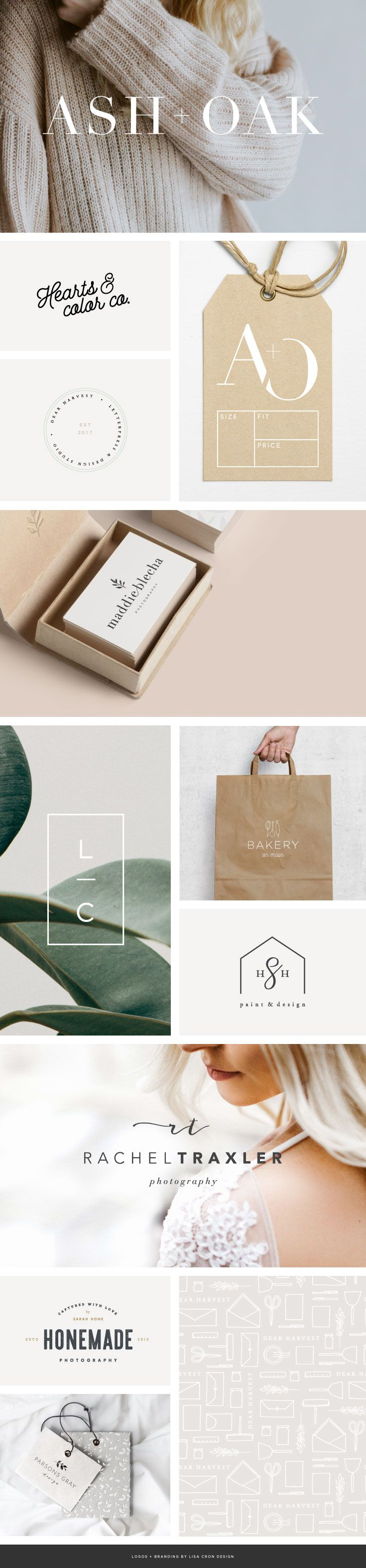Simple and beautiful logo designs for creative businesses #smallbusinessbranding #brandstylist
